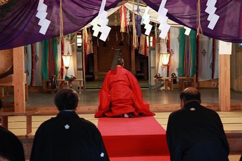 千国諏訪神社のささらすり